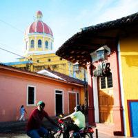 Colorful buildings in downtown Granada, Nicaragua