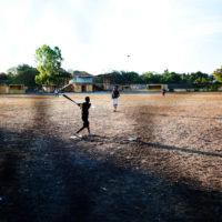 Boys play baseball in Granada, Nicaragua