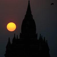 Temple at sunset in Bagan, Myanmar