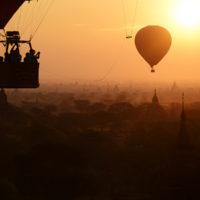 Hot air balloon in Bagan, Myanmar