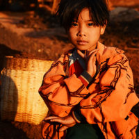 Girl from the Pao tribe in Teetain, Myanmar